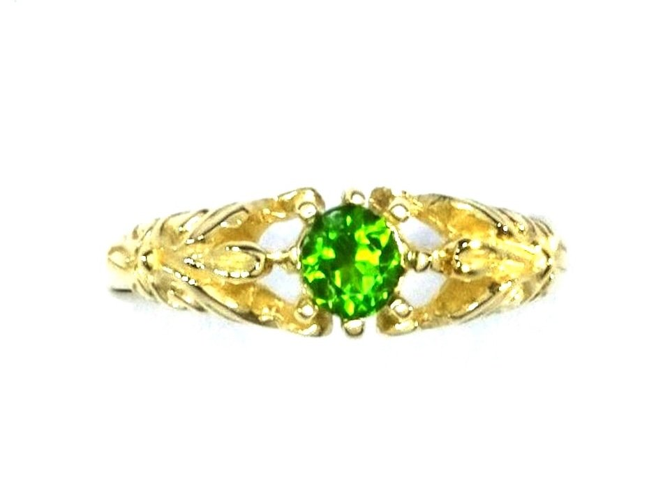 Faceted gemstone ring with natural gems chrome diopside gem of andalusite and emerald ruby and sapphire plus aquamarine, blue topaz and conflict-free diamond birthstones set in 9kt solid gold 9ct filigree engagement valentines day present ring