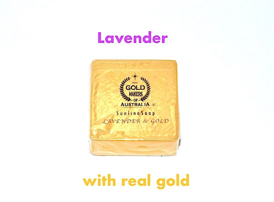 lavender Sunline Beauty Bar® Oval Design for Gentle Face and Hands with myres & Gold