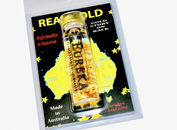 gold bottle with real 24kt gold and 24 carat au 79 element from thegoldmakers sovereign hill