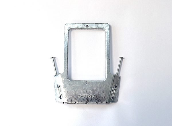power point brace bracket holding unit for power outlet electrical supply supplies stud mount