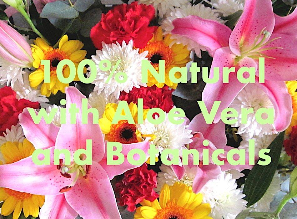 cottonon typo kilcov pure botanical magic sanitising hand sanitizer with aloe vera WITH FLOWERS