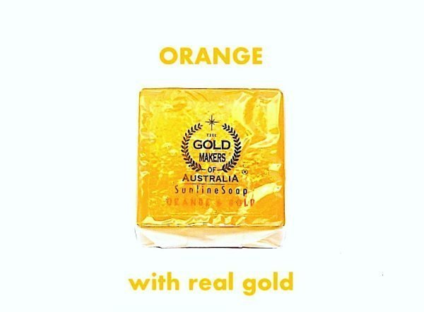 ornage sunline soap beuaty bar with rose oil and real gold and glycerine skin moisturiser 2