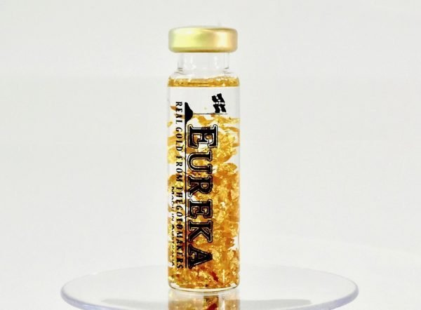 gold nugget 24kt bottle with real gold