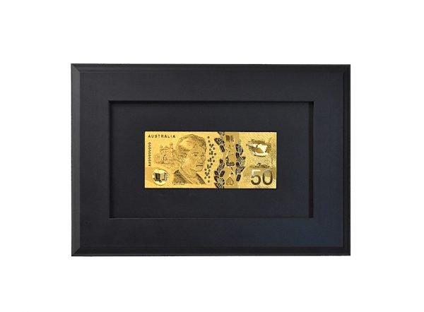 edith cowan spelling mistake $50 dollar banknote gold frame
